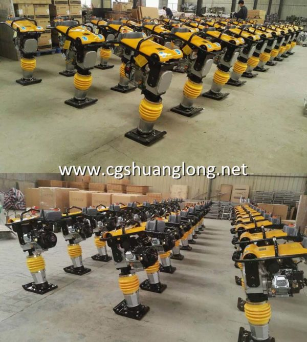 production of HCR90 Petrol earth vibrating rammer compactor