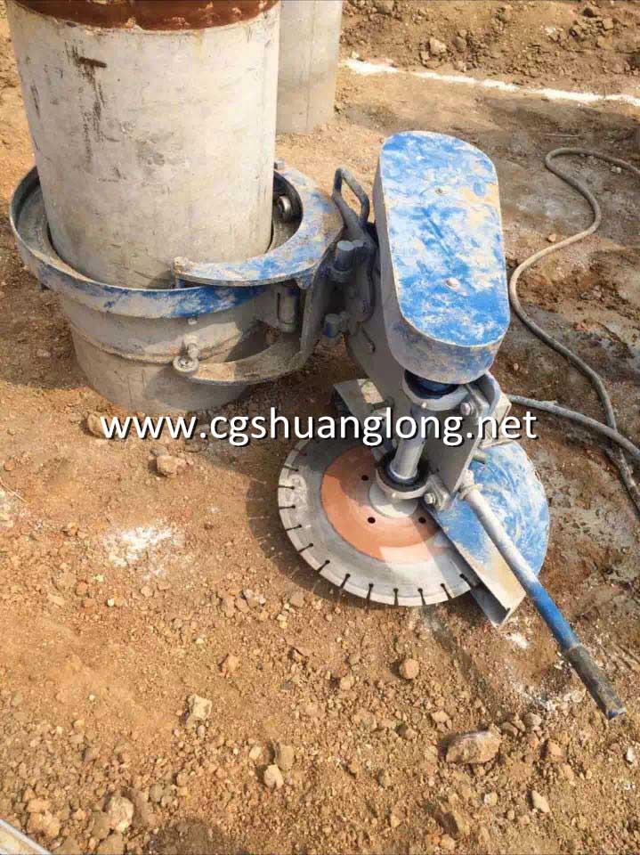 Qz400 Hollow Concrete Pile Cut Off Machine Shuanglong