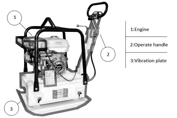 C160 gasoline diesel reversible compact plate tamperoperation